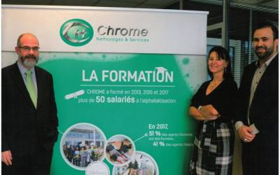 LA FORMATION A L'HONNEUR CHEZ CHROME ... avec ce reportage sur Allures Dreux de Juin-Juillet