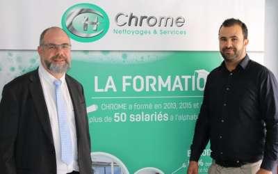 CHROME, la société de nettoyage en Eure-et-Loir s'installe à Dreux