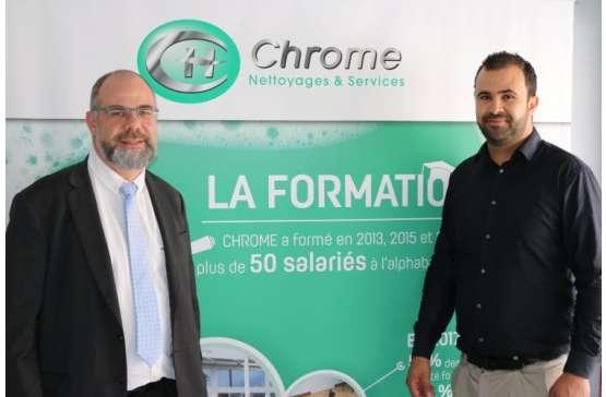 La société CHROME Nettoyages et Services s'installe à Dreux